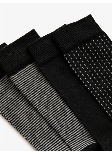 Koton Erkek 4'Lü Çorap Seti Siyah